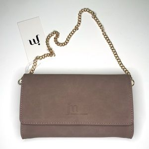 Jessica Moore Suede Clutch Bag Fawn
